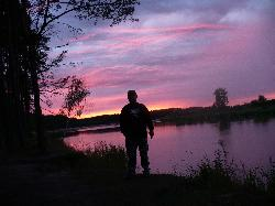 Nocka nad Bugiem na rybach.-2