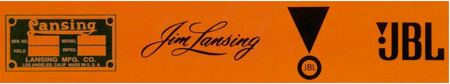 Lansing Mfg. Co. ~ Jim Lansing ~ James B. Lansing Sound, Inc. ~ JBL.png